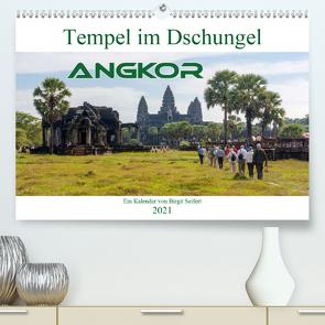 Tempel im Dschungel, Angkor (Premium, hochwertiger DIN A2 Wandkalender 2021, Kunstdruck in Hochglanz) von Seifert,  Birgit