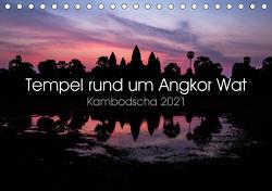 Tempel rund um Angkor Wat (Tischkalender 2021 DIN A5 quer) von Wolf,  Jürgen