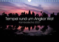 Tempel rund um Angkor Wat (Wandkalender 2021 DIN A4 quer) von Wolf,  Jürgen