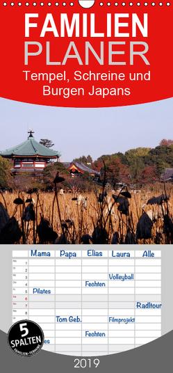 Tempel, Schreine und Burgen Japans – Familienplaner hoch (Wandkalender 2019 , 21 cm x 45 cm, hoch) von Irlenbusch,  Roland