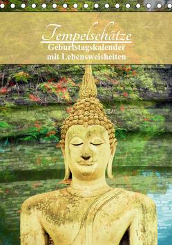 Tempelschätze (Tischkalender 2019 DIN A5 hoch) von by Sylvia Seibl,  CrystalLights