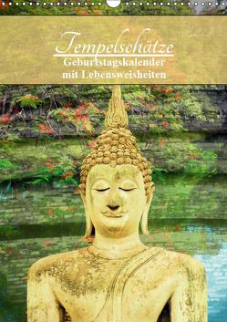 Tempelschätze (Wandkalender 2019 DIN A3 hoch) von by Sylvia Seibl,  CrystalLights