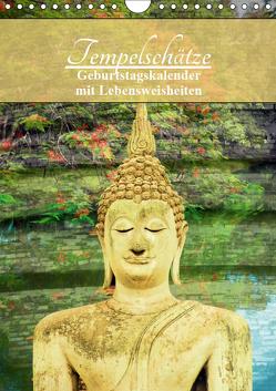Tempelschätze (Wandkalender 2019 DIN A4 hoch) von by Sylvia Seibl,  CrystalLights