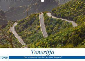 Teneriffa: Die schönsten Strecken mit dem Rennrad (Wandkalender 2019 DIN A3 quer) von Poul,  Herbert