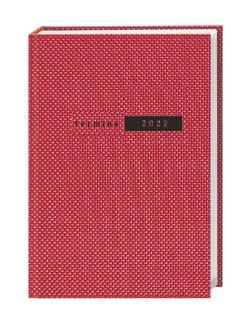 Terminer A6, Struktur rot Kalender 2022 von Heye