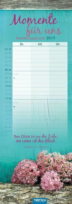 """Terminkalender """"Momente für uns"""" 2019 Notizkalender für Paare"""