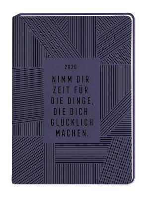 """Terminplaner Lederlook A6 """"Aubergine (Nimm dir Zeit)"""" 2020"""