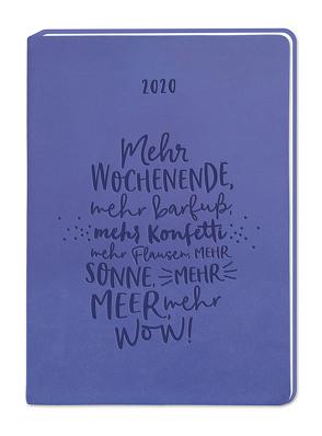 "Terminplaner Lederlook A6 ""Lila (Mehr Wochenende)"" 2020"