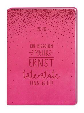 """Terminplaner Lederlook A6 """"Pink (Ein bisschen mehr Ernst)"""" 2020"""