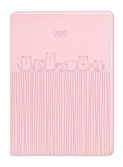 "Terminplaner Lederlook A6 ""Rosa"" 2020"