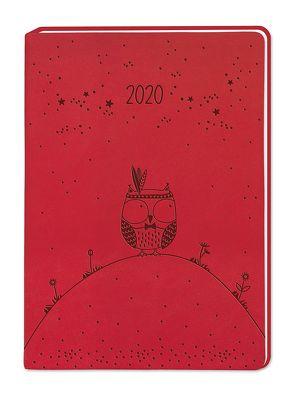 "Terminplaner Lederlook A6 ""Rot"" 2020"