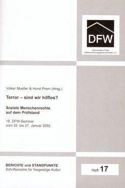 Terror – sind wir hilflos? von Cumart,  Nevfel, Lungwitz,  Günter, Mueller,  Volker, Pieper,  Gerhard, Prem,  Horst