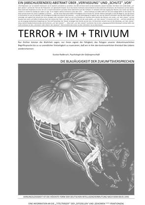 """TERROR + VIER + ABHANDLUNGEN / EIN (ABSCHLIEßENDES) ABSTRAKT ÜBER """"VERFASSUNG"""" UND """"SCHUTZ"""" 'VOR' TERROR + IM + TRIVIUM (IV v IV) von CONSTITUTION,  SOUL, Faust,  C. M."""