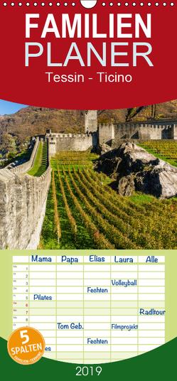 Tessin – Ticino – Familienplaner hoch (Wandkalender 2019 , 21 cm x 45 cm, hoch) von Caccia,  Enrico
