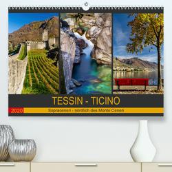 Tessin – Ticino (Premium, hochwertiger DIN A2 Wandkalender 2020, Kunstdruck in Hochglanz) von Caccia,  Enrico