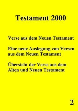 Testament 2000 – Band 2 von Norman,  Peter