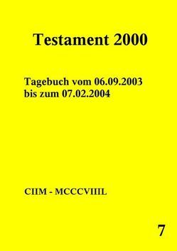 Testament 2000 – Band 7 von Norman,  Peter