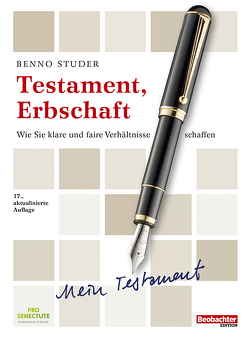 Testament, Erbschaft von Studer,  Benno