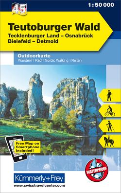 Teutoburger Wald Nr. 45 Outdoorkarte Deutschland 1:50 000