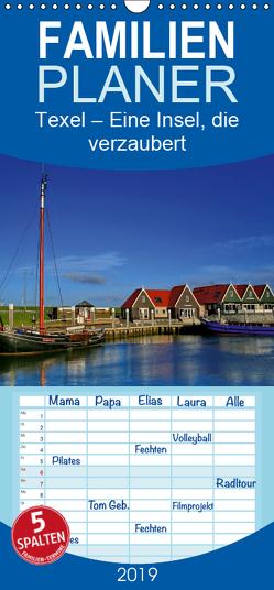 Texel – Eine Insel die verzaubert – Familienplaner hoch (Wandkalender 2019 , 21 cm x 45 cm, hoch) von Krone,  Elke