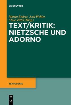 Text/Kritik: Nietzsche und Adorno von Endreß,  Martin, Pichler,  Axel, Zittel,  Claus