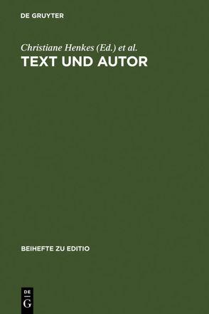 Text und Autor von Henkes,  Christiane, Richter,  Thomas, Saller,  Harald