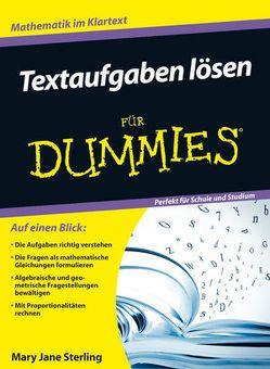 Textaufgaben lösen für Dummies von Blasche,  Tina, Sterling,  Mary Jane