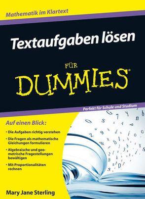 textaufgaben l246sen f252r dummies von blasche tina sterling
