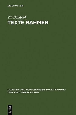 Texte rahmen von Dembeck,  Till