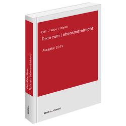 Texte zum Lebensmittelrecht von Dr. Horst,  Matthias