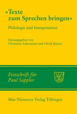 Texte zum Sprechen bringen von Ackermann,  Christiane, Auditor,  Anne, Barton,  Ulrich, Borgards,  Susanne