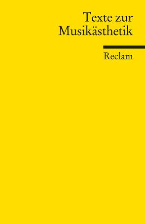 Texte zur Musikästhetik von Ammon,  Frieder von, Böhm,  Elisabeth