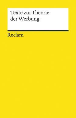 Texte zur Theorie der Werbung von Baumgärtel,  Tilman