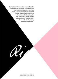 Textile Theorien der Moderne. von Buchmann,  Sabeth, Frank,  Rike