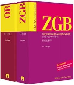 Texto Kombipaket ZGB, OR von Büchler,  Andrea, Schulin,  Hermann, Vogt,  Nedim Peter
