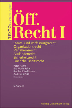 TEXTO Öff. Recht I von Belser Wyss,  Eva Maria, Hänni,  Peter, Waldmann,  Bernhard