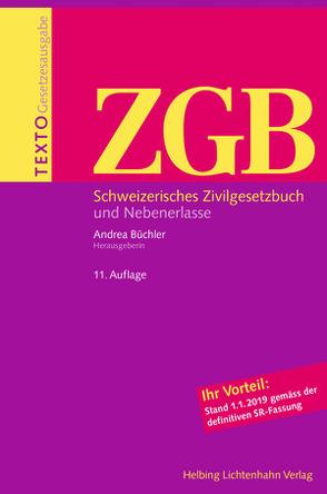 Texto ZGB von Büchler,  Andrea