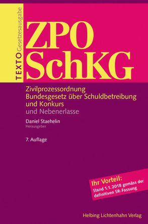 Texto ZPO/SchKG von Staehelin,  Daniel