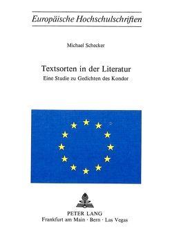 Textsorten in der Literatur von Schecker,  Michael