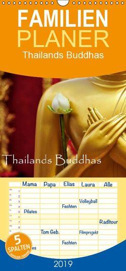 Thailands Buddhas – Familienplaner hoch (Wandkalender 2019 , 21 cm x 45 cm, hoch) von by Sylvia Seibl,  CrystalLights