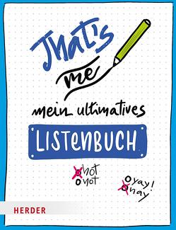 That's me – Mein ultimatives Listenbuch von Meier-Soriat,  Diana