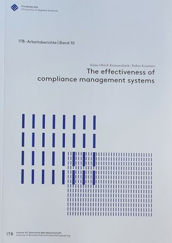 The effectiveness of compliance management systems von Krumme,  Robin, Remmerbach,  Klaus-Ulrich