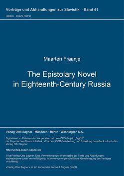 The Epistolary Novel in Eighteenth-Century Russia von Fraanje,  Maarten
