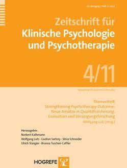 Themenheft: Strengthening Psychotherapy Outcome: Neue Ansätze in Qualitätssicherung, Evaluation und Versorgungsforschung von Lutz,  Wolfgang