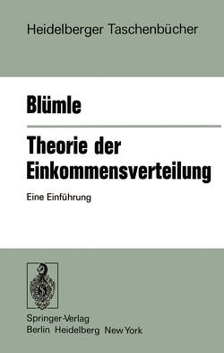 Theorie der Einkommensverteilung von Blümle,  G.