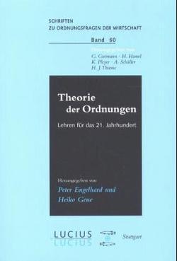 Theorie der Ordnungen von Engelhard,  Peter, Geue,  Heiko