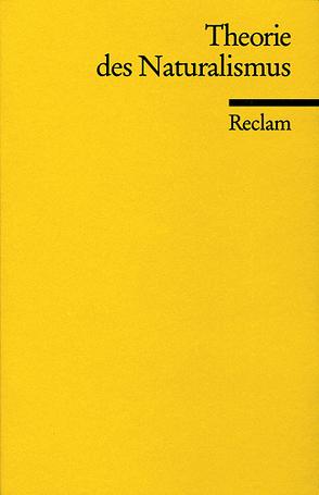 Theorie des Naturalismus von Meyer,  Theo