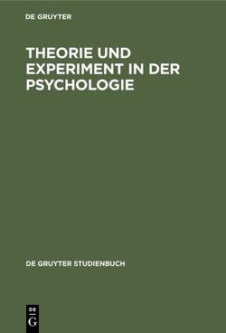 Theorie und Experiment in der Psychologie von Holzkamp,  Klaus