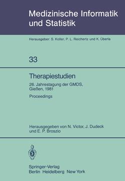 Therapiestudien von Broszio,  E.P., Dudeck,  J., Victor,  N.