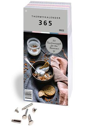 Thermokalender 365: Der Abreiss-Rezeptkalender 2022 für den Thermomix® I TM5® I TM31 I TM6 mit 366 Rezepten, inkl. Buchschrauben zum Sammeln der Lieblingsrezepte von Fietze,  Bianka